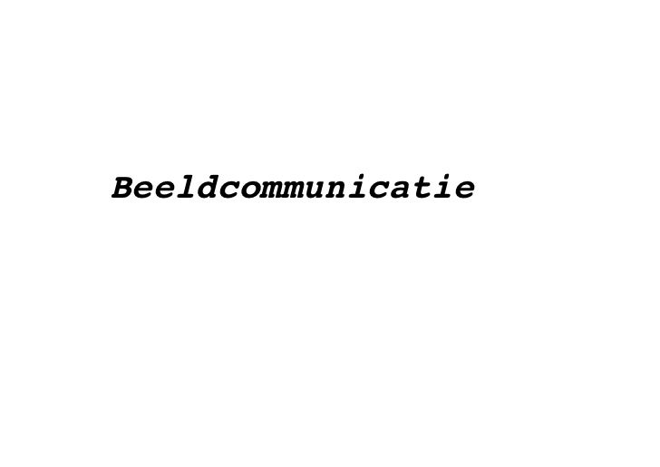 Beeldcommunicatie