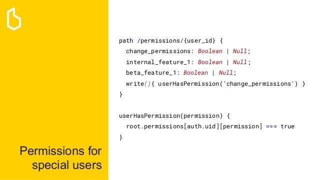 Permissions for special users path /permissions/{user_id} { change_permissions: Boolean | Null; internal_feature_1: Boolea...