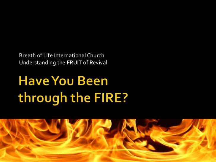 Breath of Life International Church<br />Understanding the FRUIT of Revival<br />Have You Beenthrough the FIRE?<br />