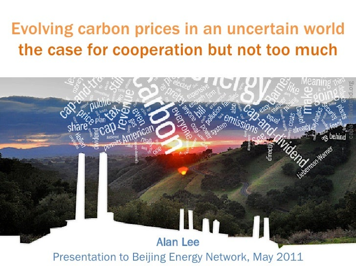 Evolving carbon prices in an uncertain world the case for cooperation but not too much                                    ...