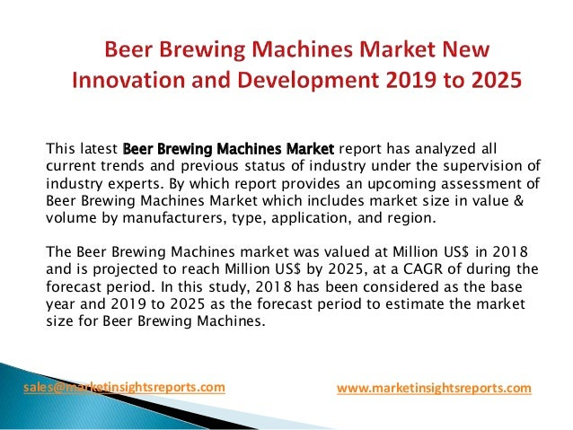 Beer brewing machines market new innovation and development
