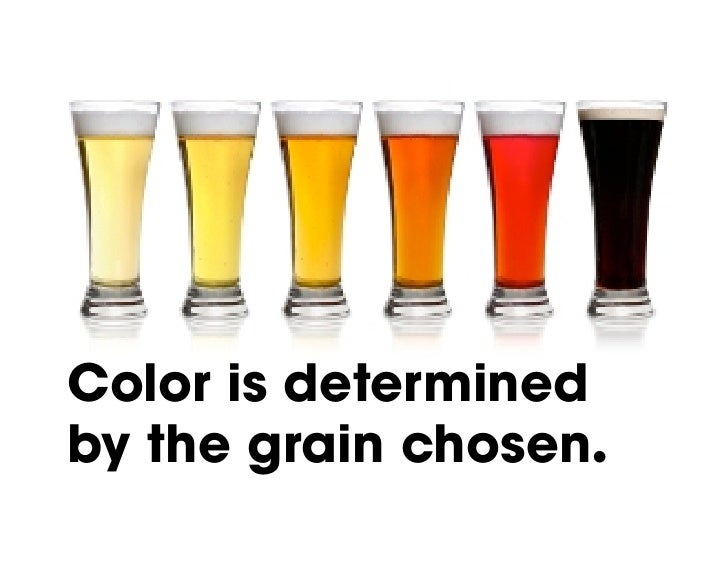 Color is determined by the grain chosen.!
