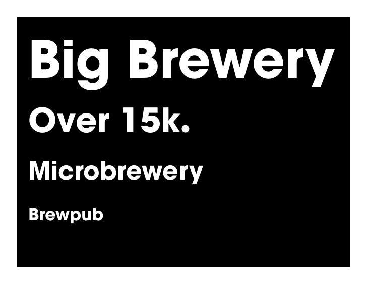 Big Brewery Over 15k.! Microbrewery Brewpub