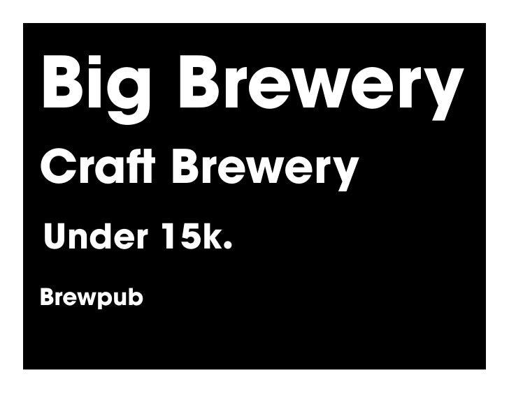 Big Brewery Cra Brewery Under 15k.! Brewpub