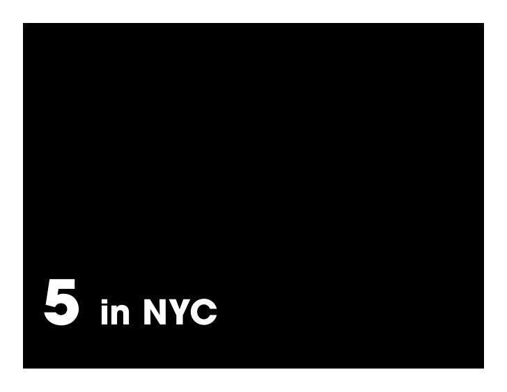 5   in NYC (3 in Brooklyn)
