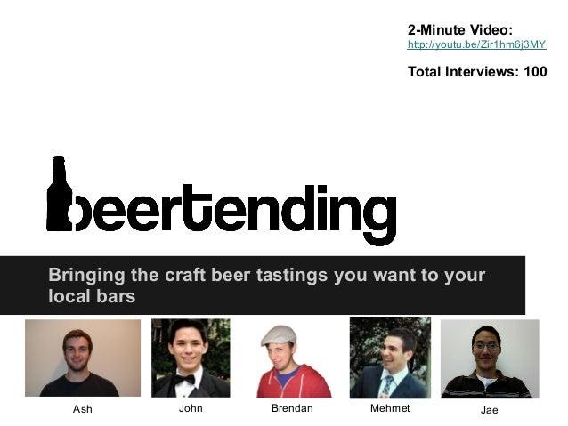 Beertending final presentation