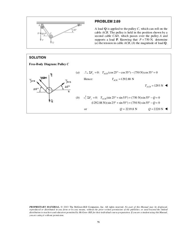Beer Vector Mechanics For Engineers Statics 10th Solutions