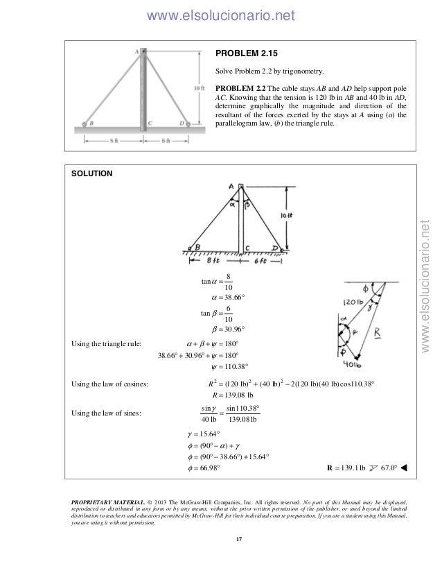 Beer vector mechanics for engineers statics 10th solutions 19 fandeluxe Image collections