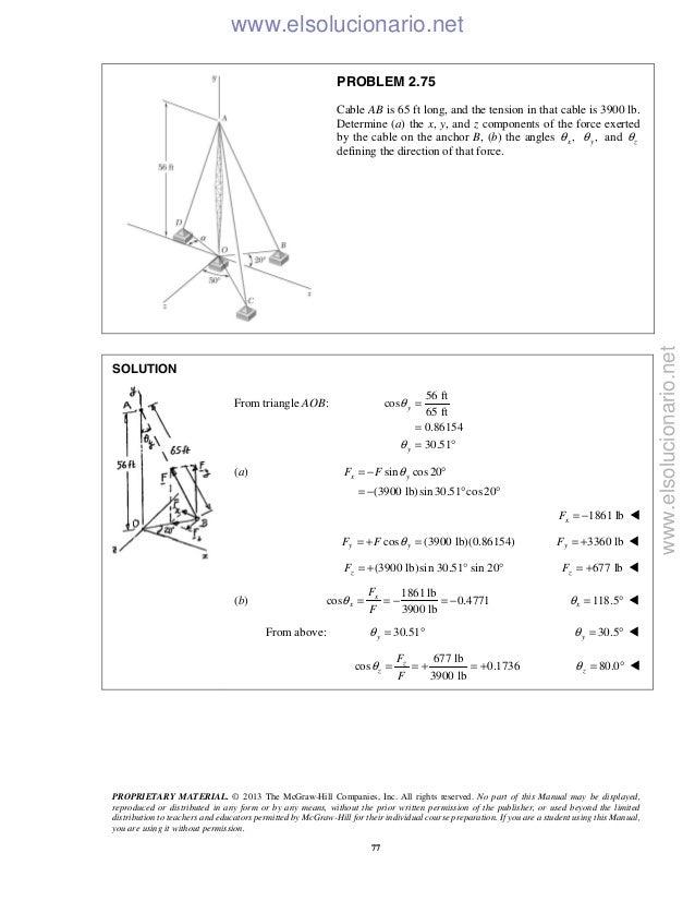 Beer vector mechanics for engineers statics 10th solutions 79 fandeluxe Image collections