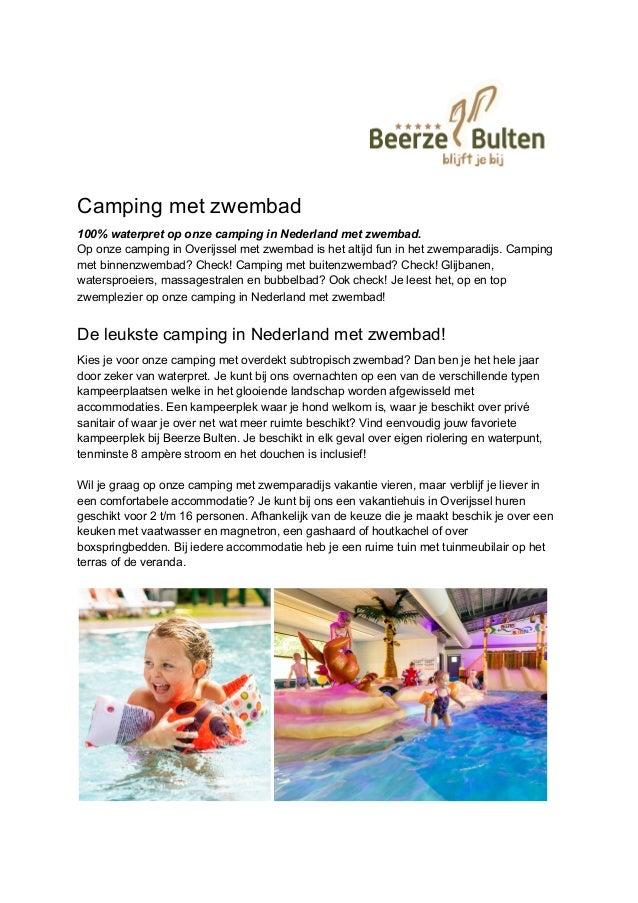 Camping met zwembad 100% waterpret op onze camping in Nederland met zwembad. Op onze camping in Overijssel met zwembad is ...