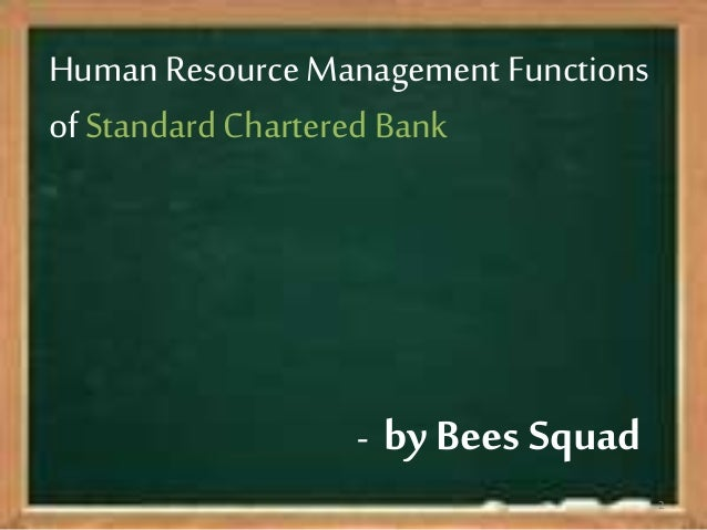 Hr In Standard Chartered Bank College Paper Academic Service