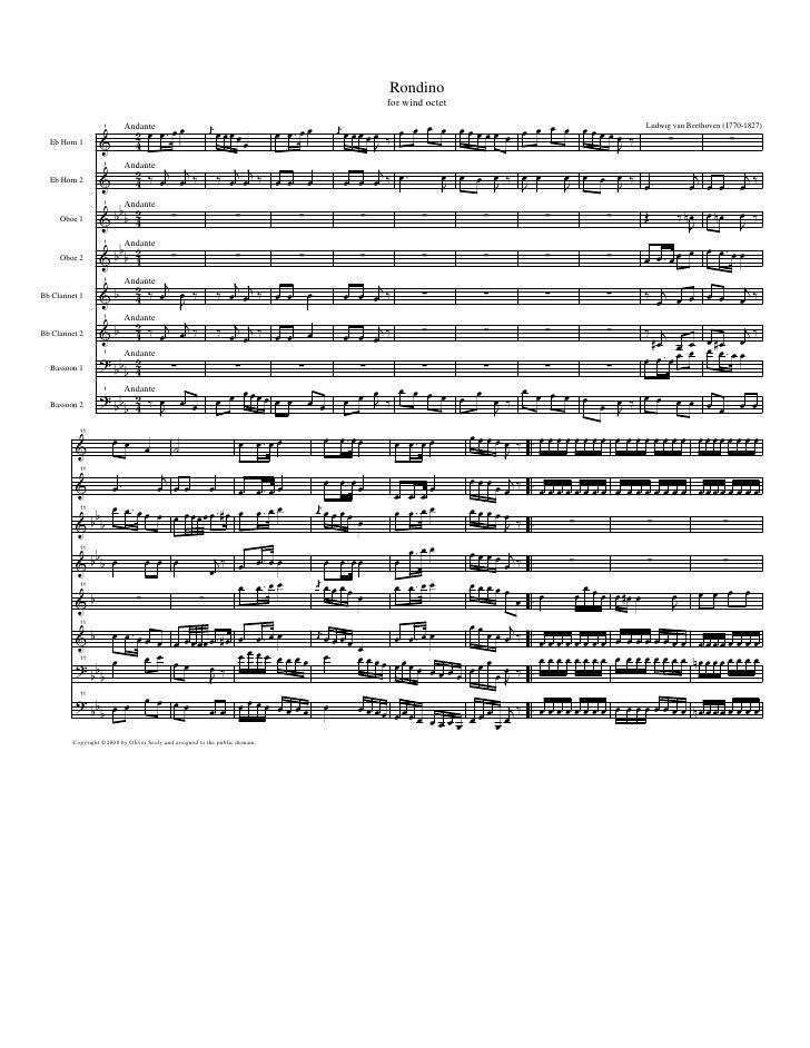 Octeto para instrumentos de viento.Beethoven