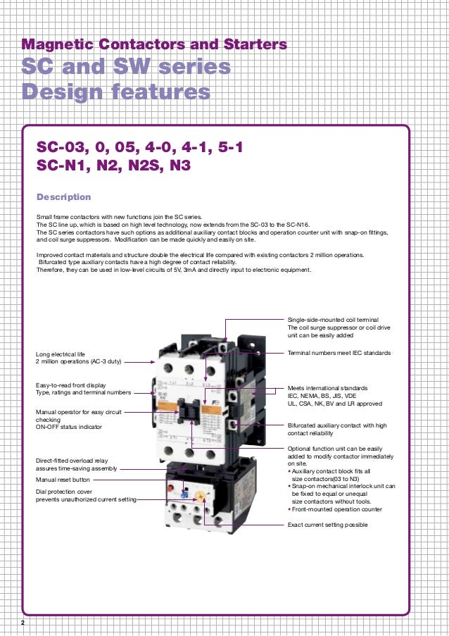 catalog contactor fuji electric