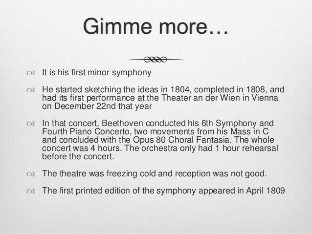 fifth symphony first movement