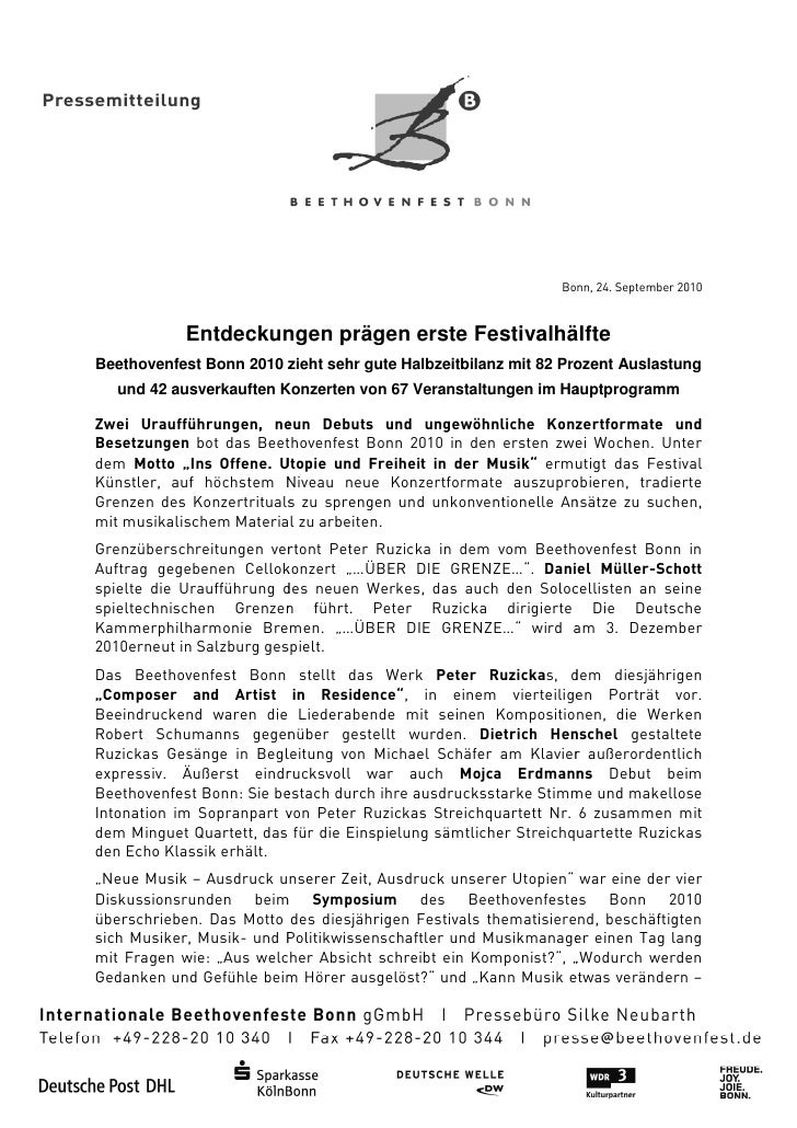 Bonn, 24. September 2010            Entdeckungen prägen erste Festivalhälfte             ntdeckungenBeethovenfest Bonn 201...