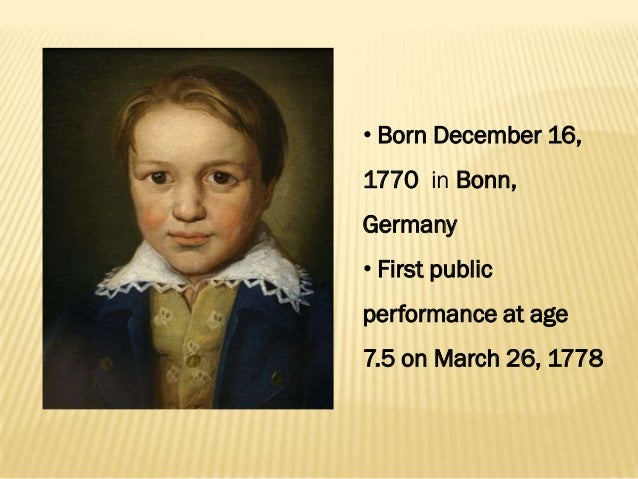 a biography of ludwig van beethoven who was born in germany Born: december 16th, 1770 in bonn, germany died: march 36th, 1827 (at age 57) in vienna, austria nationality: german fields: symphonies, piano sonatas, piano concertos, string quartets.