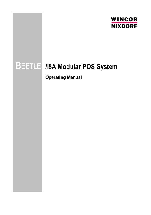 BEETLE   /i8A Modular POS System         Operating Manual