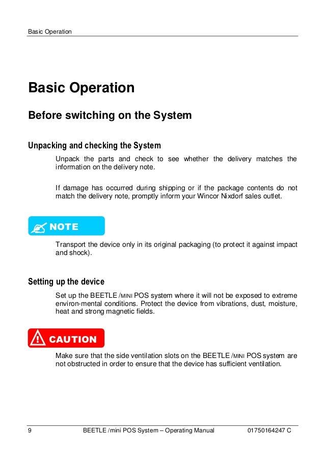 Beetle Mini Operating Manual