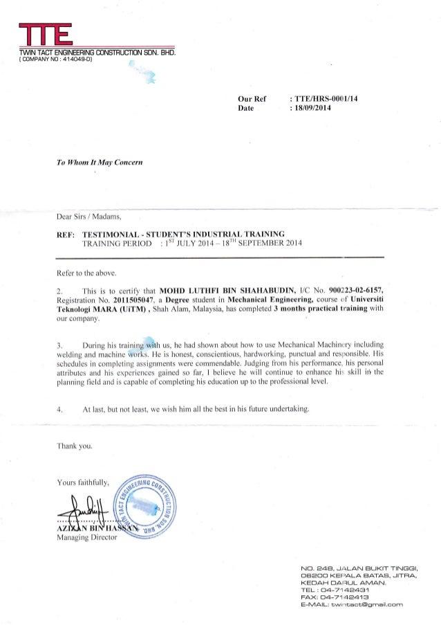Verification of Internship