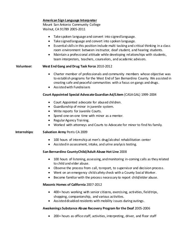 resume working with children check