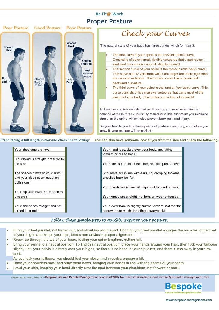 Be Fit@ Work                                                                       Proper Posture                         ...