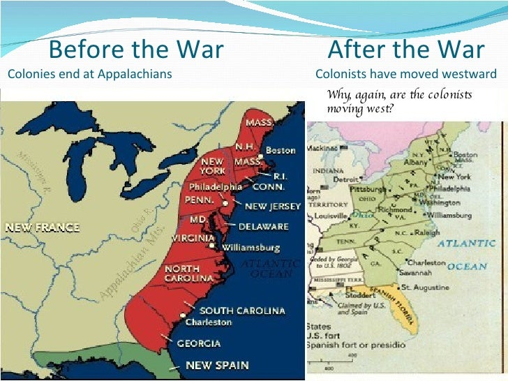 Before The Revolution Part One - Map of us after revolutionary war