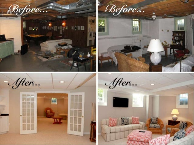 Owens Corning Basement Before and After Basement Photos