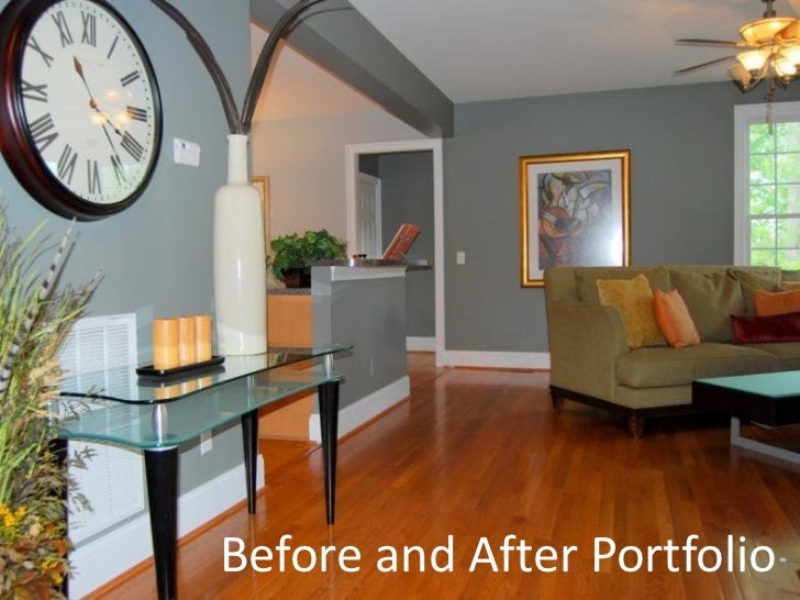 Before and after home staging pictures