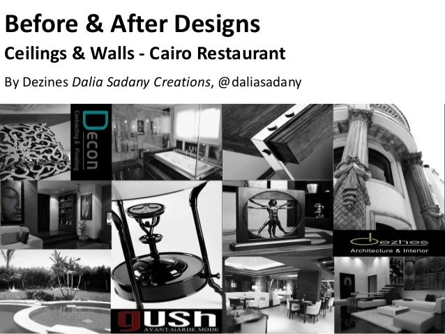 Before & After DesignsCeilings & Walls - Cairo RestaurantBy Dezines Dalia Sadany Creations, @daliasadany