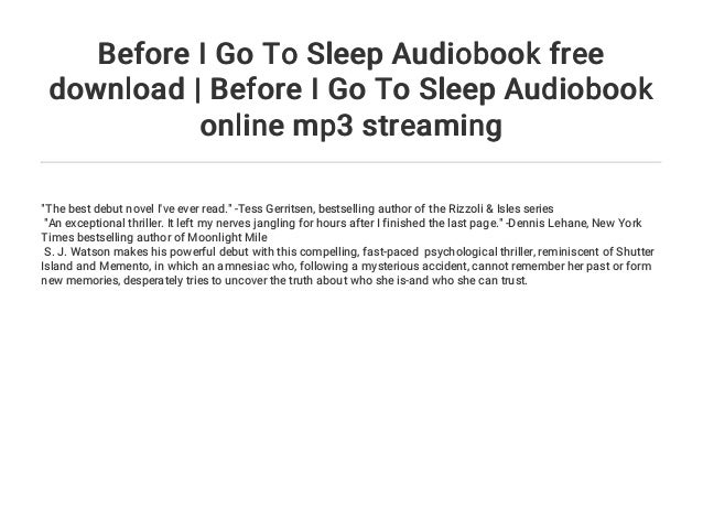 before i go to sleep book online free
