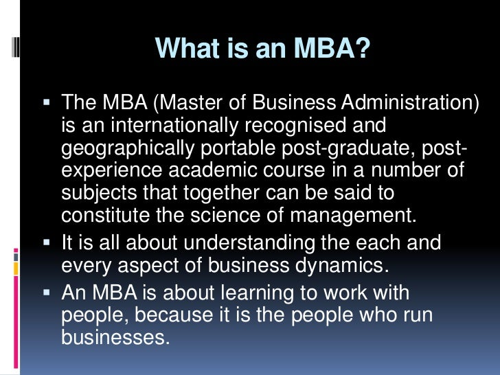 Before joining  mba what you should know Slide 3