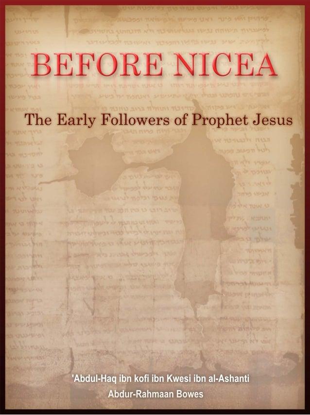 Before Nicea_____________________________________________________________________                       BEFORE NICEA      ...