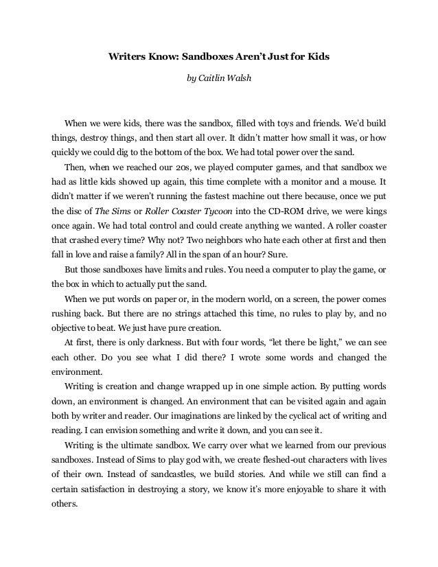 Read to write stories