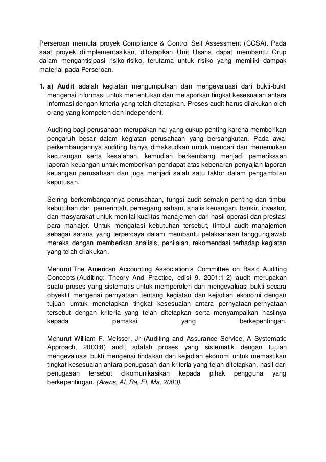 BE & GG9, Basori, Hapzi Ali, Audit & Internal Control, UMB ...