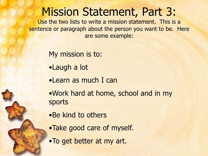 how to write a mission statement about myself