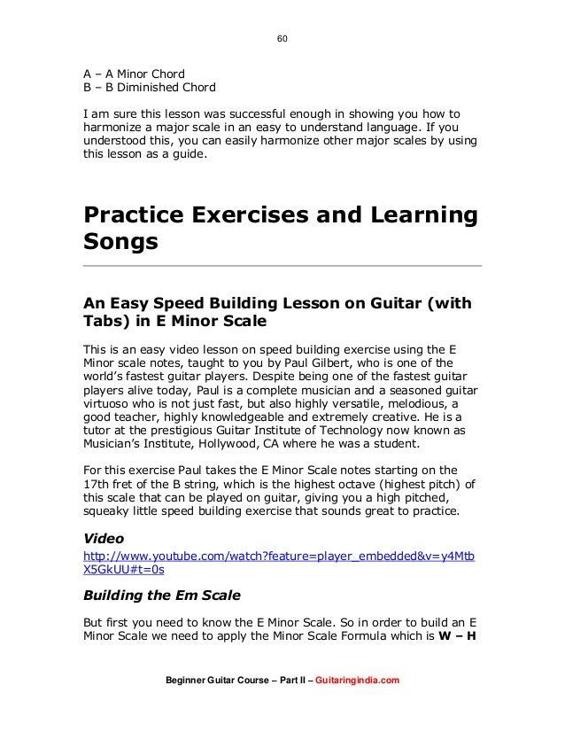 Beginner Guitar Course - Part 2