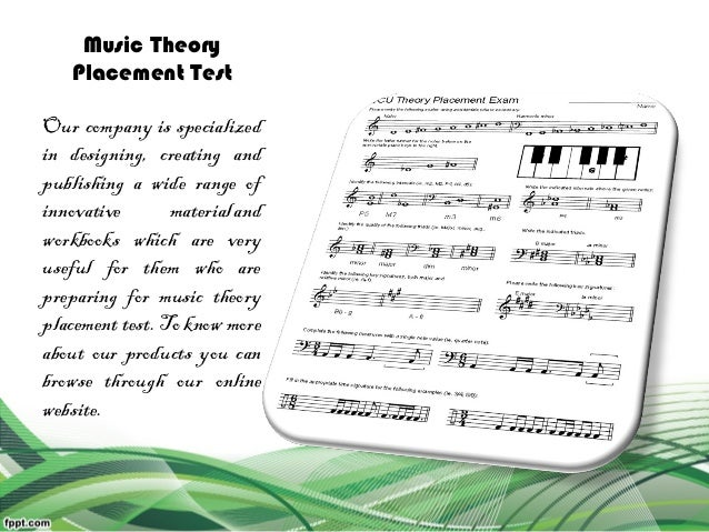 Image Result For Music Theory Placement Test Online