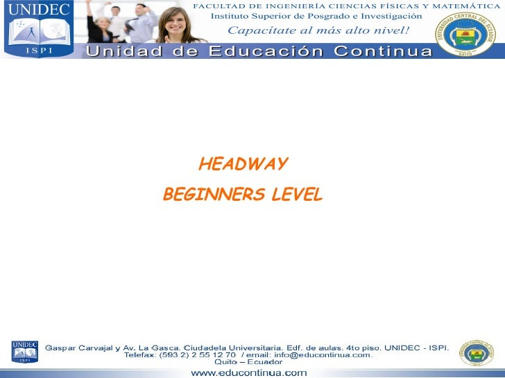 HEADWAY BEGINNERS LEVEL