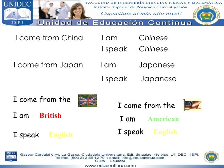 I come from China I speak I am I am I speak I come from Japan Chinese Chinese Japanese Japanese I come from the  I am  I s...