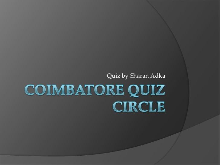 Quiz by Sharan Adka