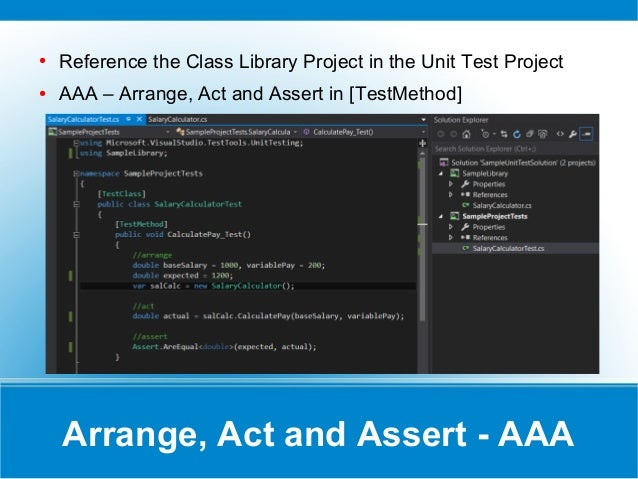 Beginners - Get Started With Unit Testing in  NET