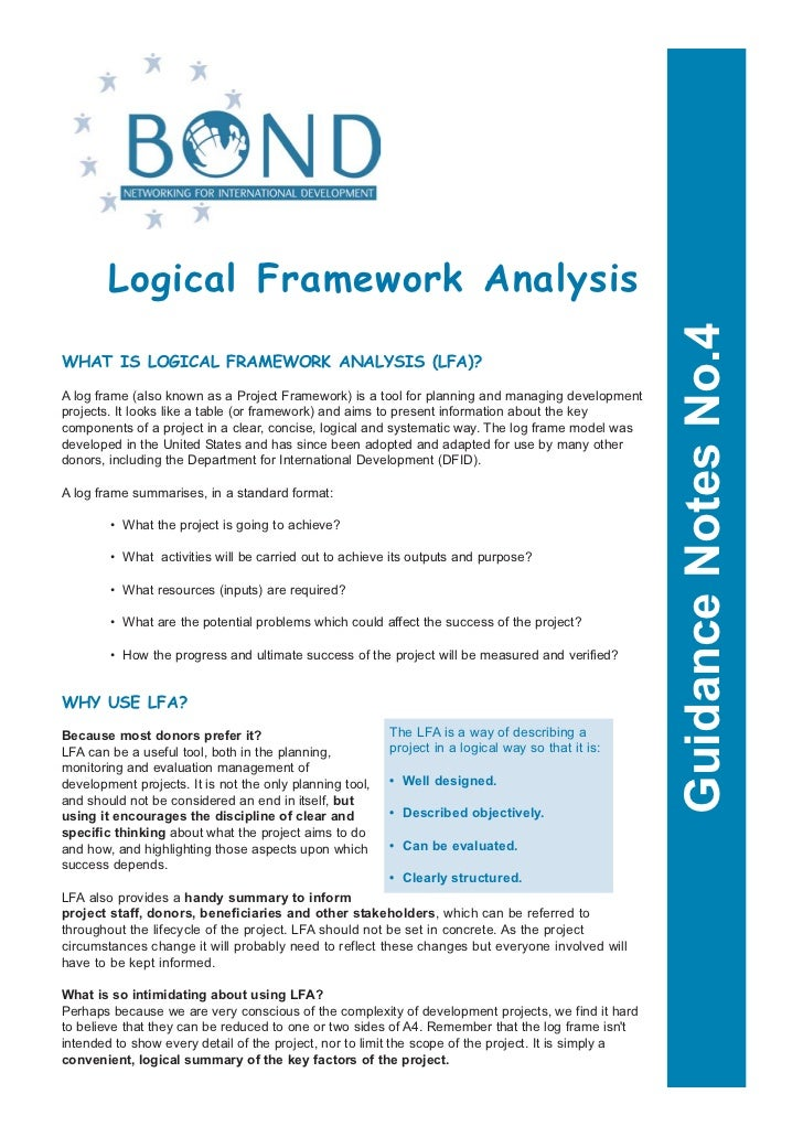 Logical Framework Analysis                                                                                                ...
