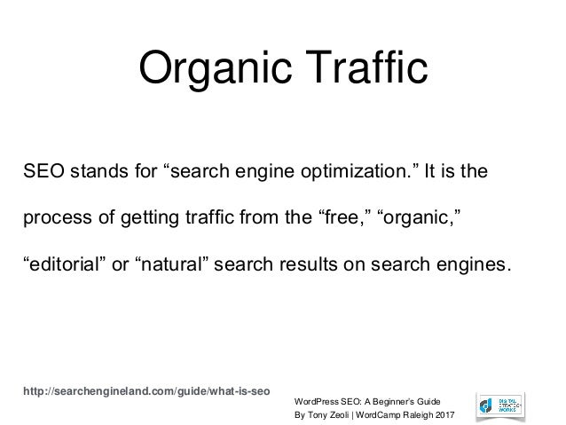 """WordPress SEO: A Beginner's Guide By Tony Zeoli 