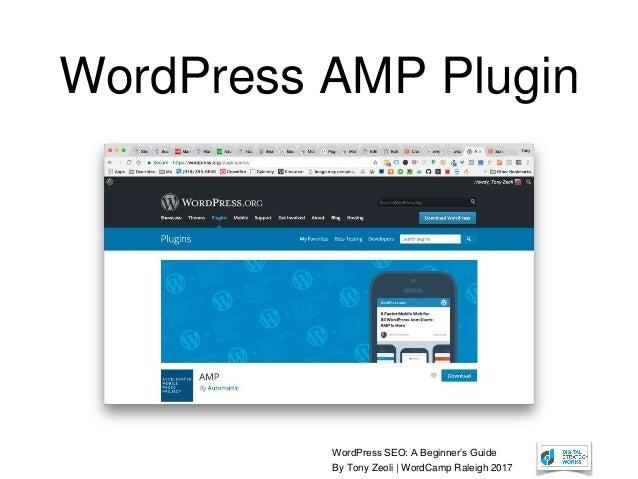 WordPress SEO: A Beginner's Guide By Tony Zeoli | WordCamp Raleigh 2017 WordPress AMP Plugin