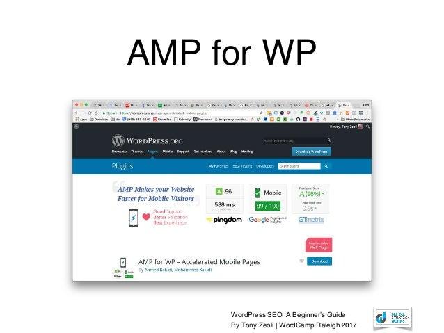 WordPress SEO: A Beginner's Guide By Tony Zeoli | WordCamp Raleigh 2017 AMP for WP