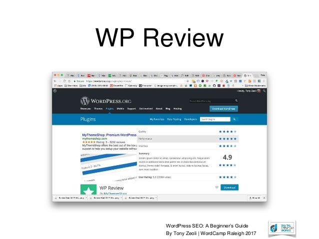 Beginner SEO for WordPress - Wordcamp Raleigh 2017 - 웹