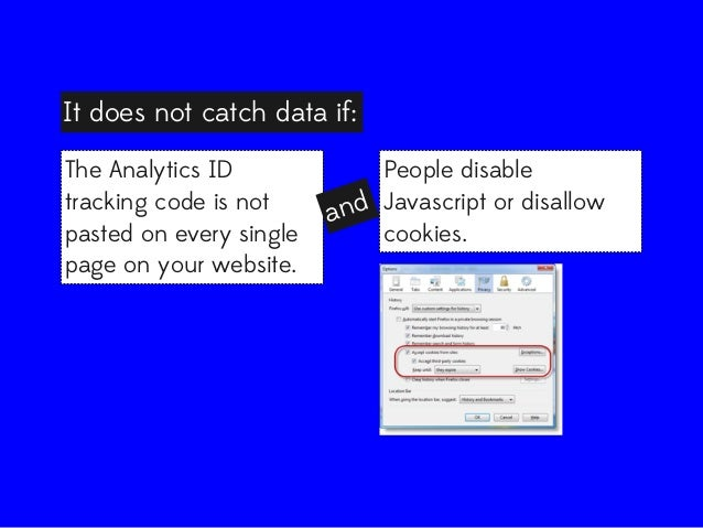 It does not catch data if: The Analytics ID tracking code is not pasted on every single page on your website.  People disa...