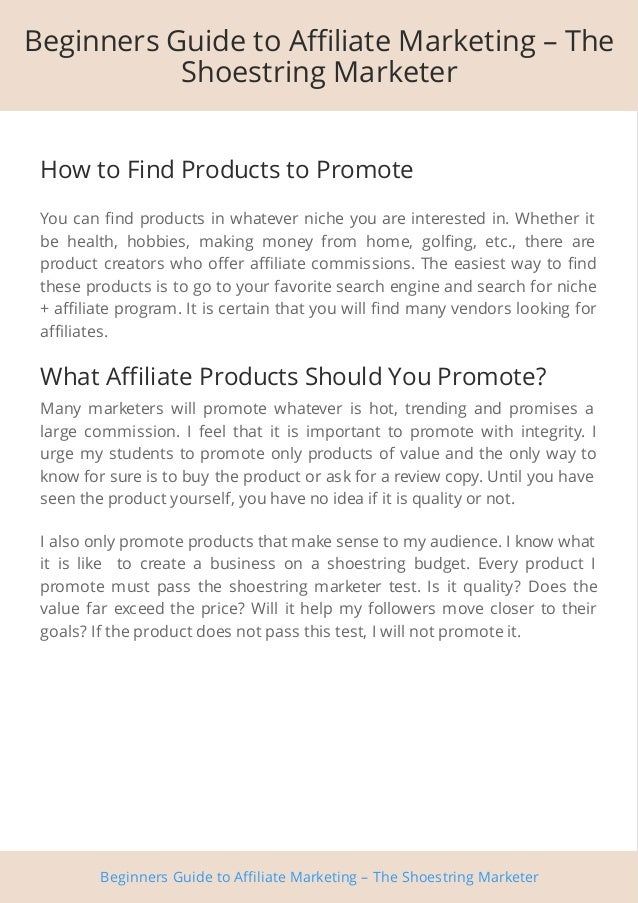 Beginners Guide to Affiliate Marketing Slide 3