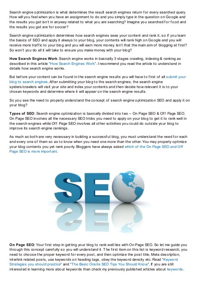 Beginners guide to blogging search engine optimization - episode 3 slideshare - 웹