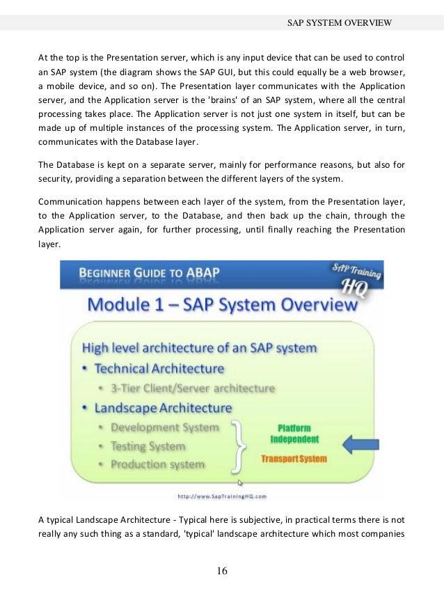 beginner s guide to sap abap 1 rh slideshare net sap abap beginners tutorial ABAP Programming Language